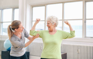 elderly woman physical fitness